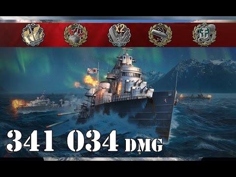 World of WarShips / Khabarovsk (X) .. 341 034 Dmg