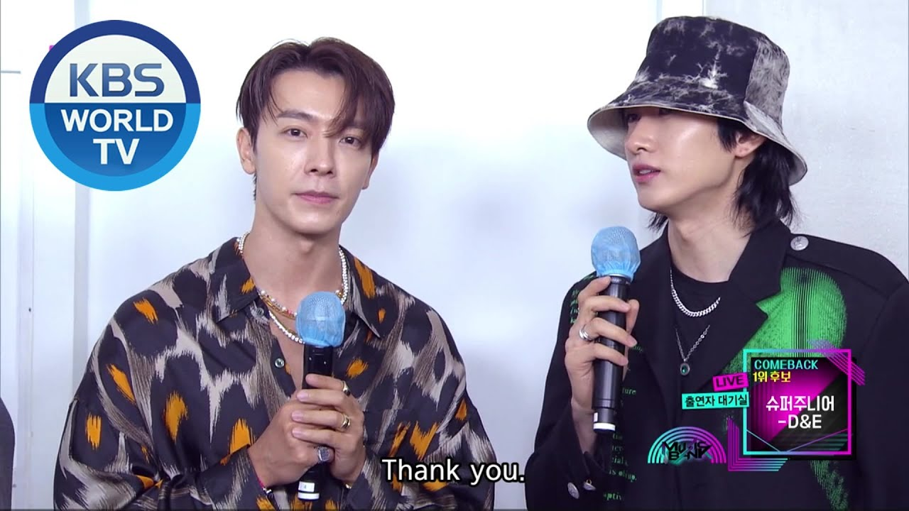 Interview With Super Junior D E Music Bank I Kbs World Tv 200911 Youtube