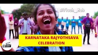 Karnataka Rajyothsava Celebration -Flash Mob-Acharya Kannada