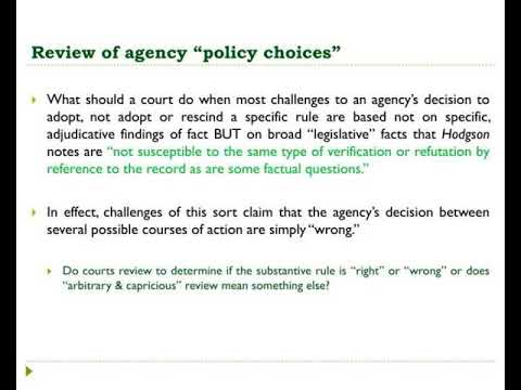 agency findings of fact amp policy decisions in informal proceedings