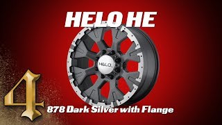HELO HE878 Dark Silver Wheels