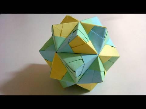 Origami Small Triambic Icosahedron Sonobe
