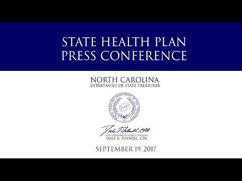 Treasurer Folwell - State Health Plan - Press Conference – September 19, 2017