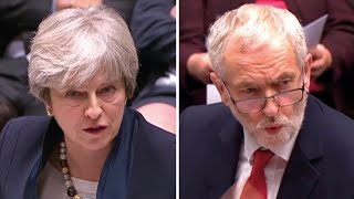 'An absolute disgrace': Corbyn attacks May on housing at PMQs
