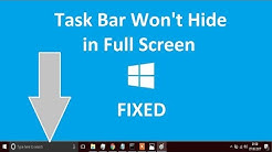 Task bar not hiding in fullscreen Windows 10/8/7 | Quick fix