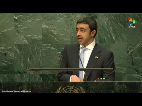 UN Speeches: Sheikh Abdullah Bin Zayed Al Nahyan, Minister for Foreign Affairs of the UAE