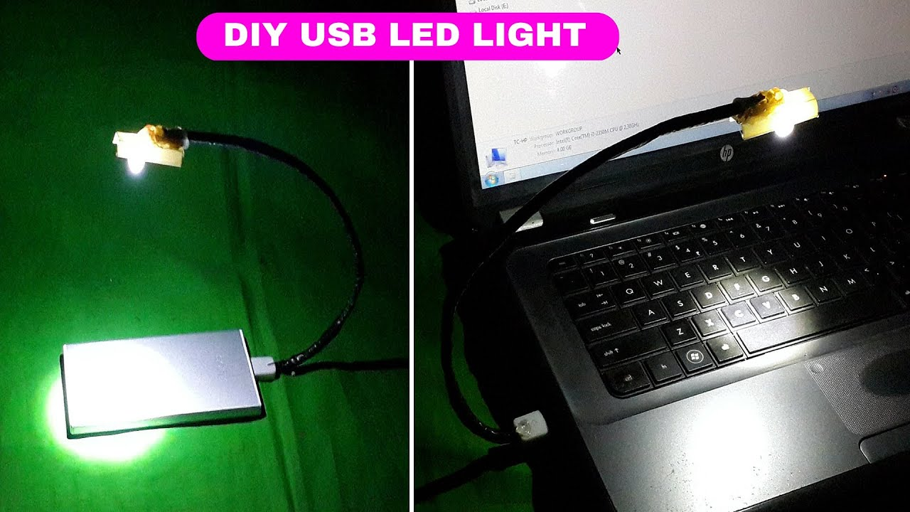 How to Make a USB Powered LED Light for Laptop Keyboard ...