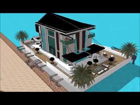 Modern huis ontwerpen in sketchup bouwen waterhuis for Huis in 3d ontwerpen