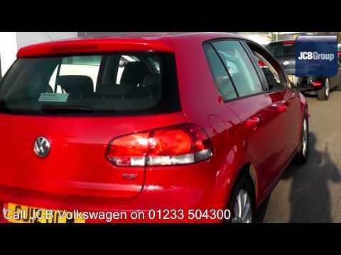 2012 Volkswagen Golf Match 1.4l Tornado Red GJ12UCM for sale at JCB VW Ashford