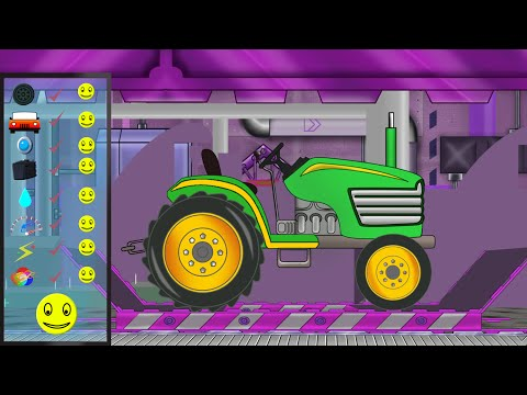 Tractor Repair | Car Service For Kids | Garage For Children