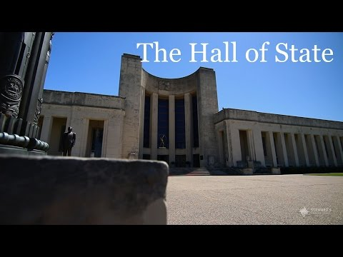 The Hall of State at Fair Park in Dallas, TX