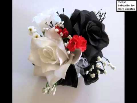 Popular Collection Of White And Red Wrist Corsage Pictures White