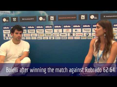 Simone Bolelli after winning the match against Robredo 62 64 (ENG)