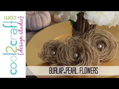 How To Make Looped Burlap Flowers Bonus Tablescaping Ideas