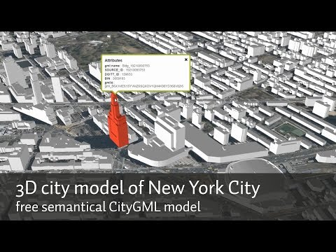 3D City Model Of New York City (NYC)   The Free Semantical CityGML Model As A Web Streaming 3d Map