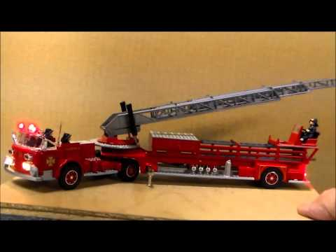 Aerial ladder fire truck