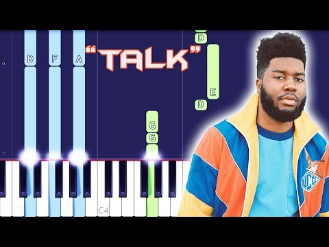Khalid - Talk Piano Tutorial EASY (Piano Cover)