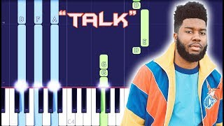 Khalid Talk Piano Tutorial EASY Piano Cover - MusicVista