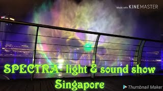 Spectra- Light and Sound show, Marina bay sands, Singapore,