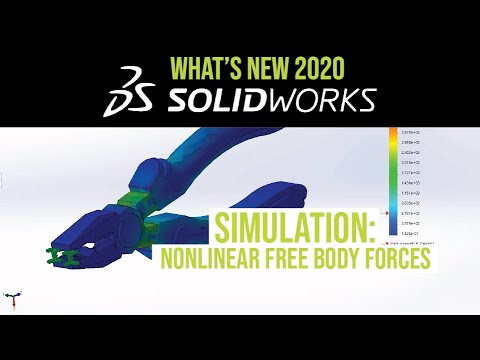 solidworks-2020-simulation-tutorial---free-body-forces