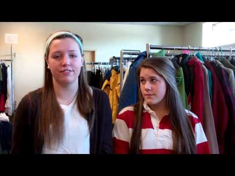 Divine Savior Holy Angels High School seniors Mary Kate and Jessie explain why they are volunteering