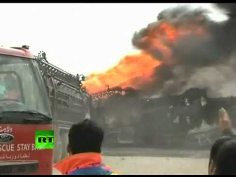 Video: NATO supply convoy torched by massive fuel truck fireball