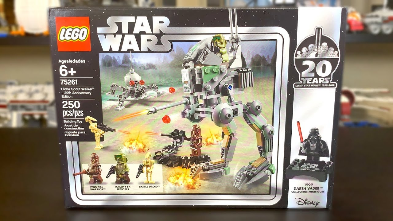 Lego Star Wars 2019 Clone Scout Walker 20th Anniversary Edition Review Set 75261