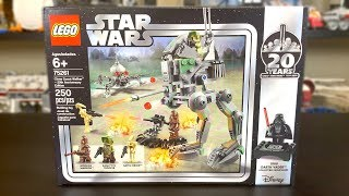 LEGO Star Wars 2019 Clone Scout Walker - 20th Anniversary Edition Review! Set 75261!