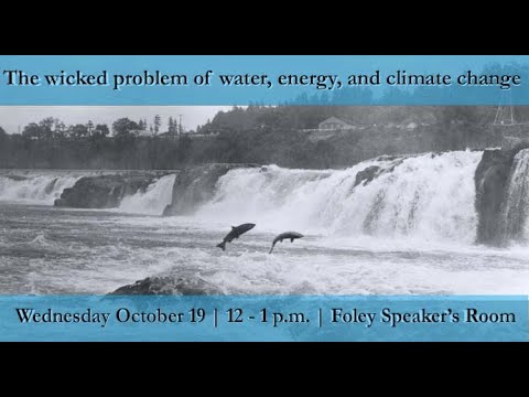 The wicked problem of water, energy and climate change