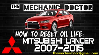 How to Reset Oil Light: Mitsubishi Lancer 2007, 2008, 2009, 2010, 2011, 2012, 2013, 2014, 2015.