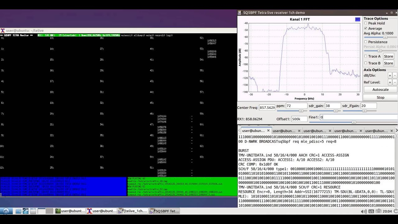 Listening to TETRA Voice with a RTL-SDR, Osmo-Tetra and Telive by Superphish