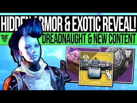 Destiny 2 | EXOTIC REVEALED & HIDDEN ARMOR! Dreadnaught Update, New Content, Exotic Leak & Changes!