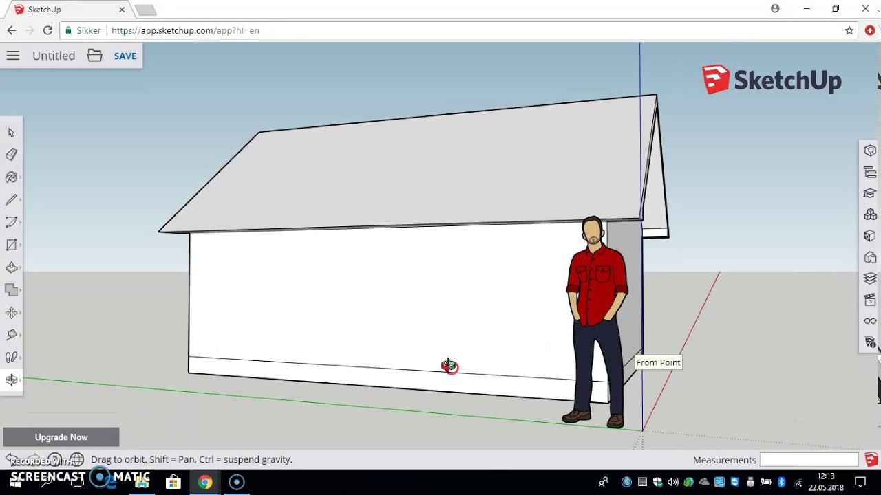 Tegne enkelt hus SketchUp Online