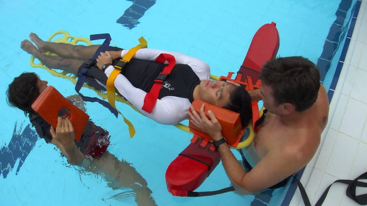 Abc Aquatics Lifeguards Spinal Backboarding Procedure Shallow Water Training Video Youtube