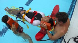 Swim Concierge Lifeguards: Spinal Backboarding Procedure - Shallow Water