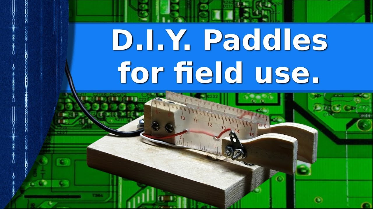 Ham Radio - D I Y  paddles for field use