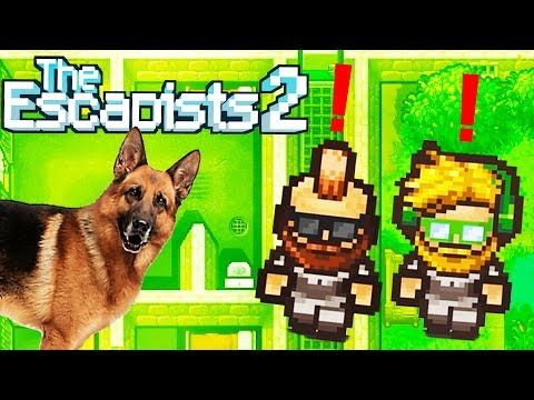 Angry Police Dogs Attack Prison Escapists! - The Escapists 2 Gameplay Preview - Multiplayer