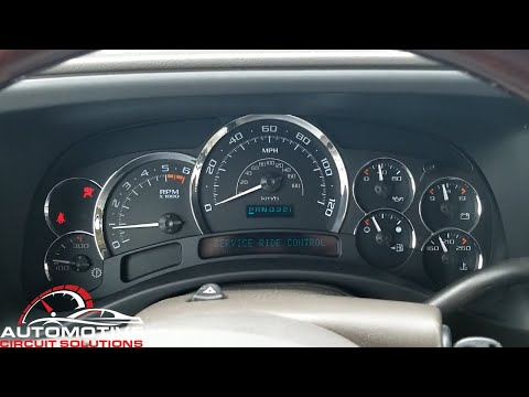 Cadillac Escalade Cluster Removal For Repair | How To remove Speedometer Gauge