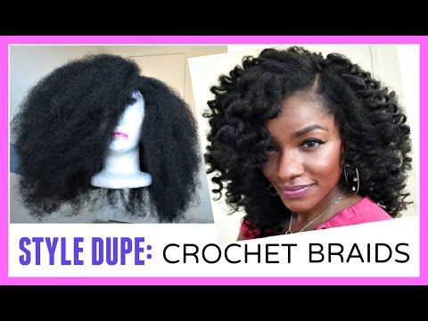 video crochet braids alternative marley hair wig in 30 minutes
