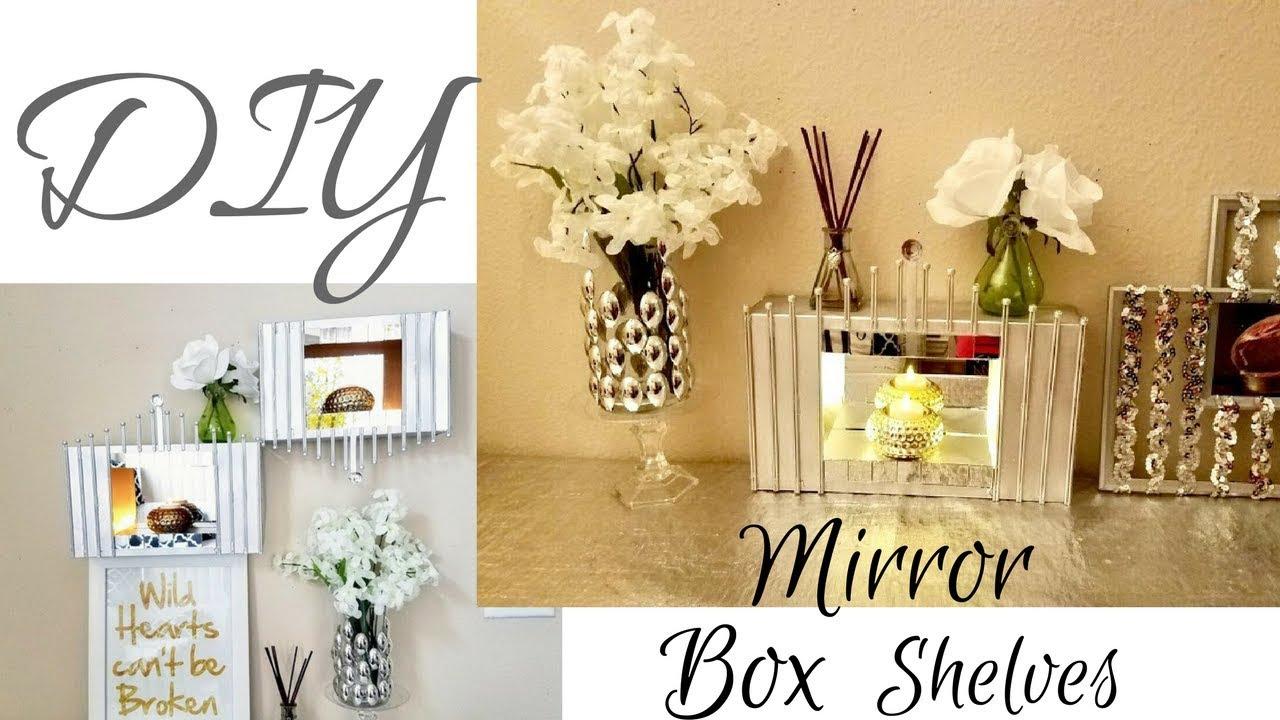 Diy Wall Mirror Display Shelves For Wall Decor Using