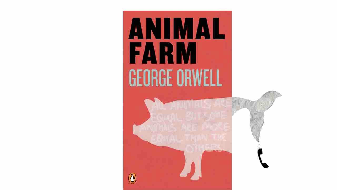 a literary analysis of the political satire animal farm by george orwell