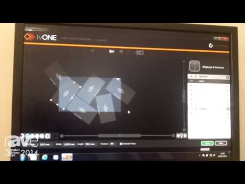 ISE 2014: TV One Demonstrates CORIOgrapher Software for CORIOmaster Video Wall Processing System