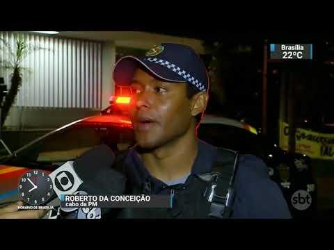 Corretora de imóveis é espancada por outro corretor em Brasília | SBT Brasil (24/11/17)