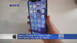 connectYoutube - Apple Engineer Loses Job After Daughter's Video Of Using iPhone 10 Goes Viral