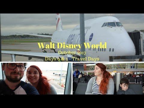 Days 0 & 1 - Travel Days - Walt Disney World, Disney Cruise & Orlando Vacation Oct 2017 Travel Vlogs