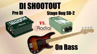 DI comparison on Bass - Passive Direct Box: Radial Pro DI vs. Radial Stage Bug SB-2 - Want 2 Check