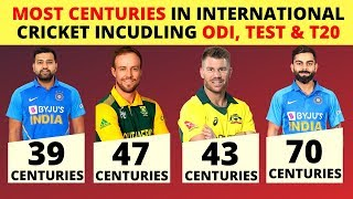 20 Cricketers With Most Centuries In International Cricket Incudling ODI, Test & T20