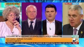Ministrul Apărării, Adrian Țuțuianu: Nu intenționez să rămân președinele Comisiei SRI