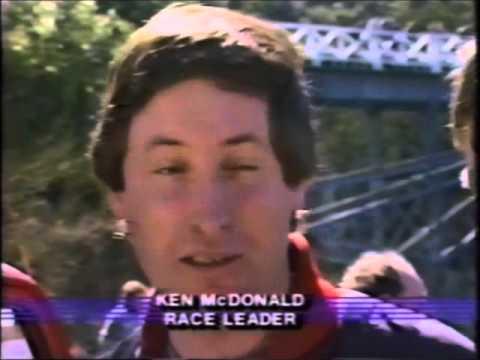 Ken Macdonald winning the 1986 World Jetboat Marathon