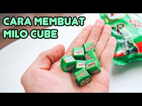 Cara Buat MILO CUBE Sendiri🍬 Permen Milo Kotak Homemade   Permen Anak Enak & Mudah Banget